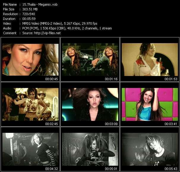 Screenshot of Music Video Thalia - Megamix