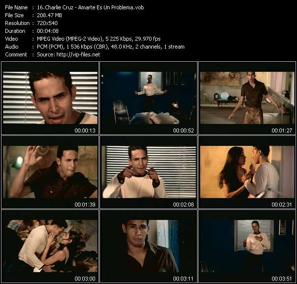 Screenshot of Music Video Charlie Cruz - Amarte Es Un Problema