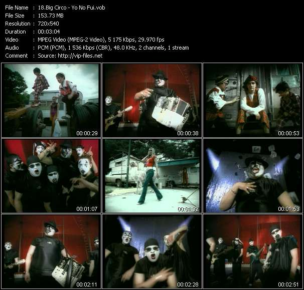 Screenshot of Music Video Big Circo - Yo No Fui
