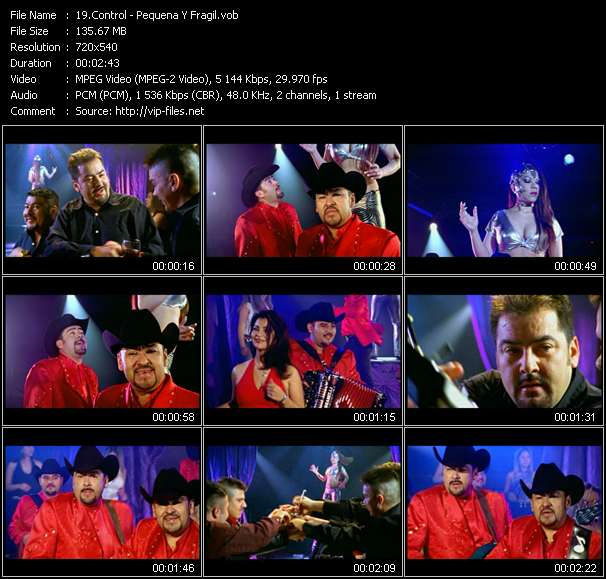 Screenshot of Music Video Control - Pequena Y Fragil