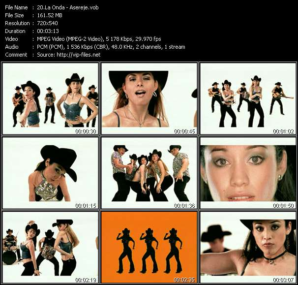 Screenshot of Music Video La Onda - Asereje