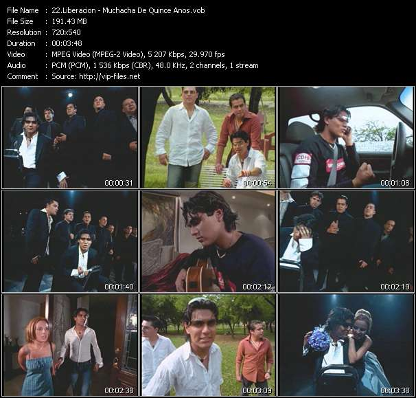 Screenshot of Music Video Liberacion - Muchacha De Quince Anos