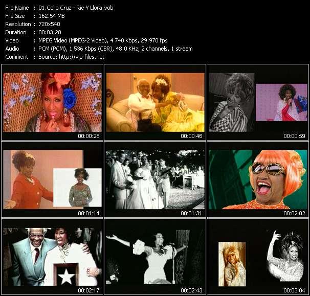 Screenshot of Music Video Celia Cruz - Rie Y Llora