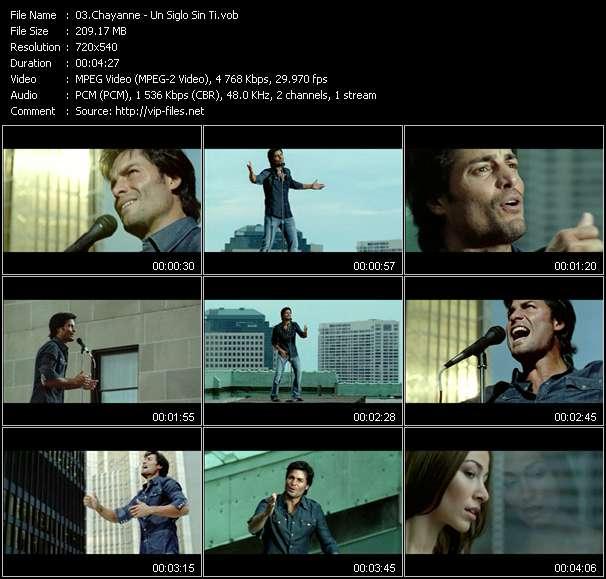 Screenshot of Music Video Chayanne - Un Siglo Sin Ti
