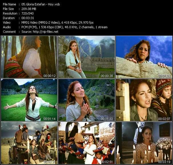Screenshot of Music Video Gloria Estefan - Hoy