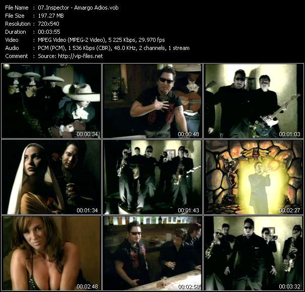 Screenshot of Music Video Inspector - Amargo Adios