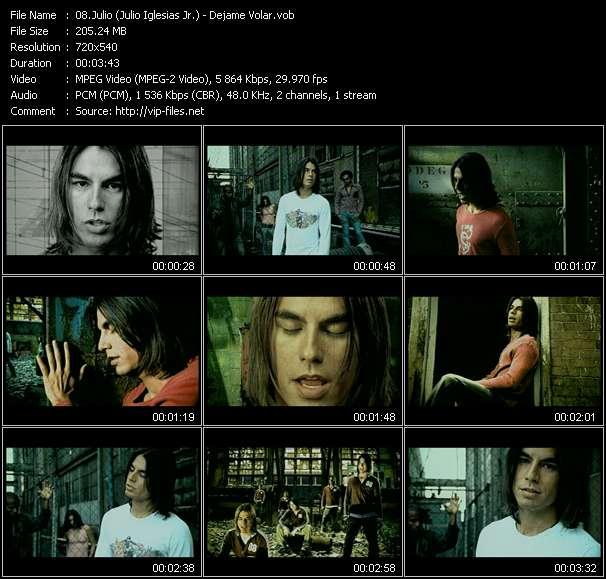 Screenshot of Music Video Julio (Julio Iglesias Jr.) - Dejame Volar