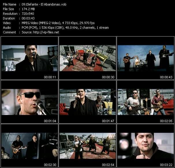 Screenshot of Music Video Elefante - El Abandonao