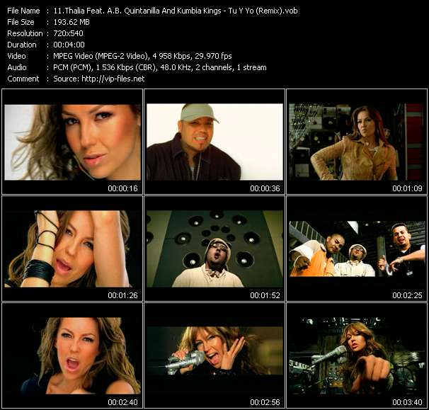 Thalia Feat. A.B. Quintanilla And Kumbia Kings video vob