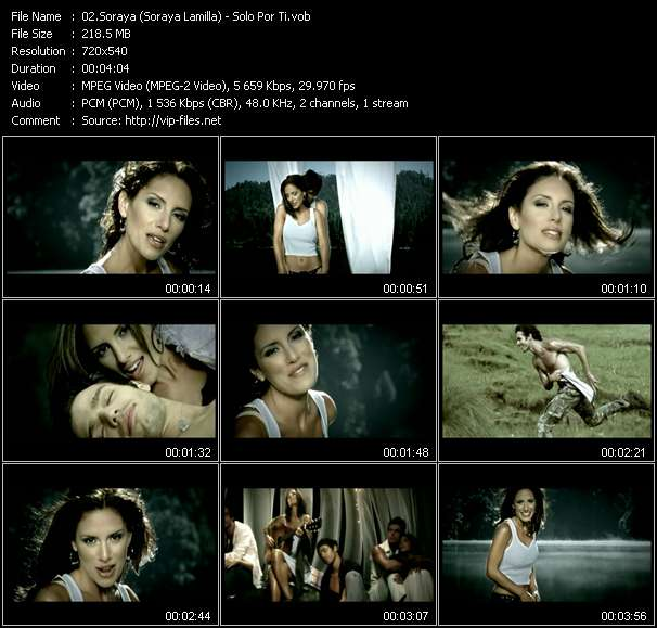 Screenshot of Music Video Soraya (Soraya Lamilla) - Solo Por Ti