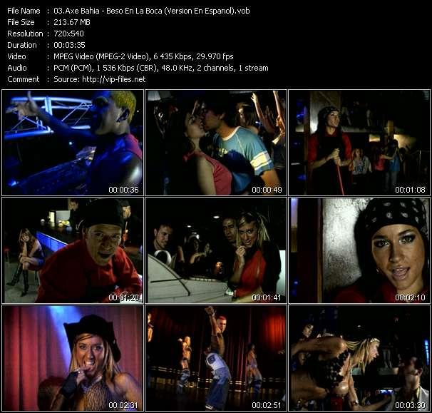 Screenshot of Music Video Axe Bahia - Beso En La Boca (Version En Espanol)