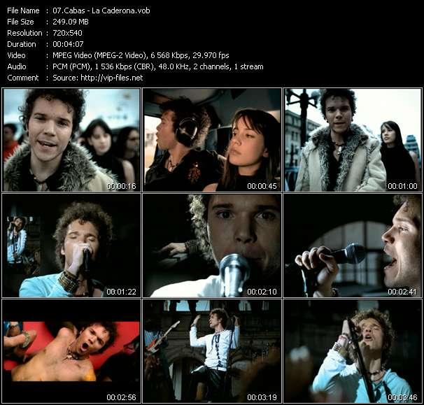 Screenshot of Music Video Cabas - La Caderona