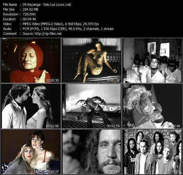 Screenshot of Music Video Bayanga - Solo Los Locos