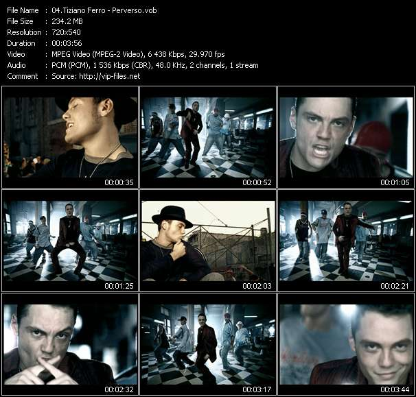Tiziano Ferro video vob