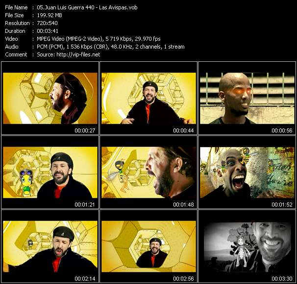 Screenshot of Music Video Juan Luis Guerra 440 - Las Avispas