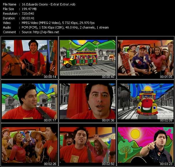 Screenshot of Music Video Eduardo Osorio - Extra! Extra!