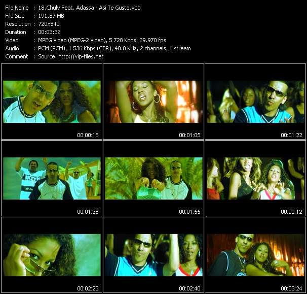 Screenshot of Music Video Chuly Feat. Adassa - Asi Te Gusta