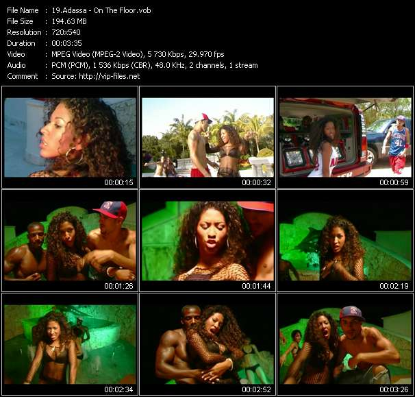 Screenshot of Music Video Adassa - On The Floor