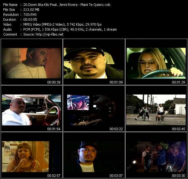 Screenshot of Music Video Down Aka Kilo Feat. Jenni Rivera - Mami Te Quiero