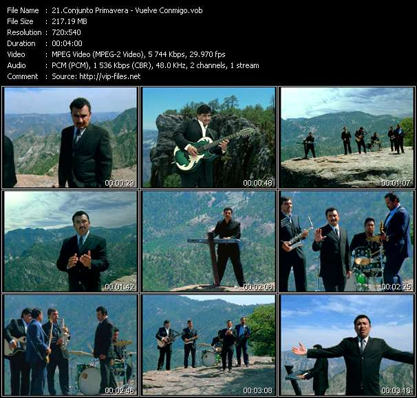 Screenshot of Music Video Conjunto Primavera - Vuelve Conmigo