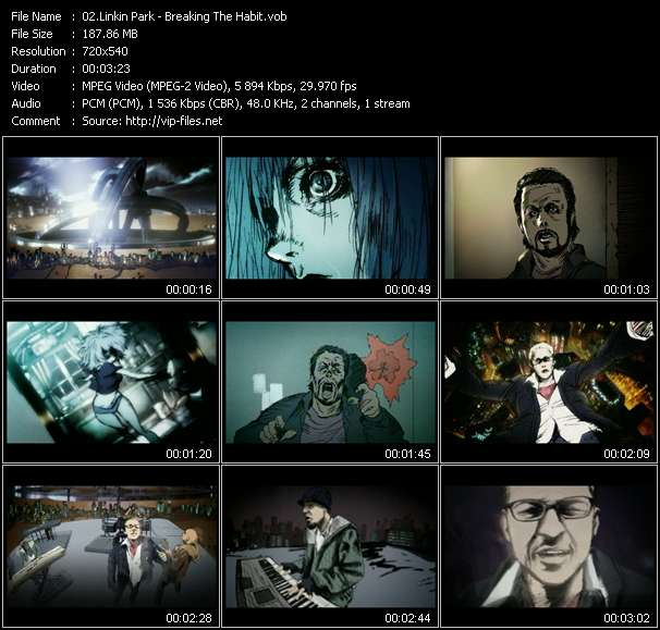 Screenshot of Music Video Linkin Park - Breaking The Habit