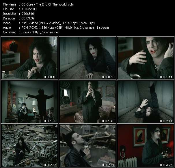 Screenshot of Music Video Cure - The End Of The World
