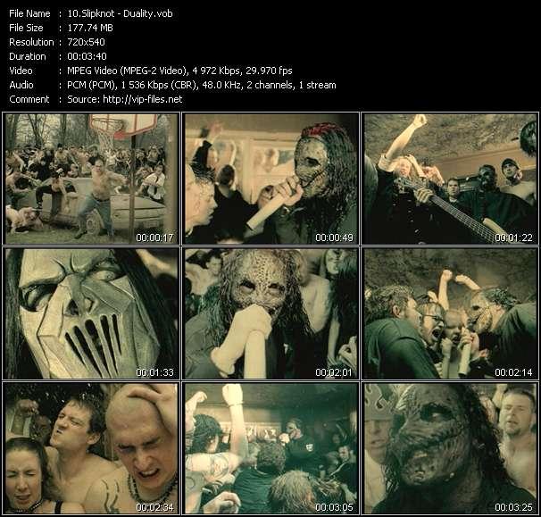 Screenshot of Music Video Slipknot - Duality