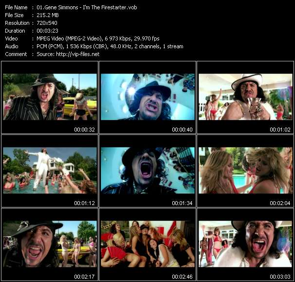Gene Simmons video vob