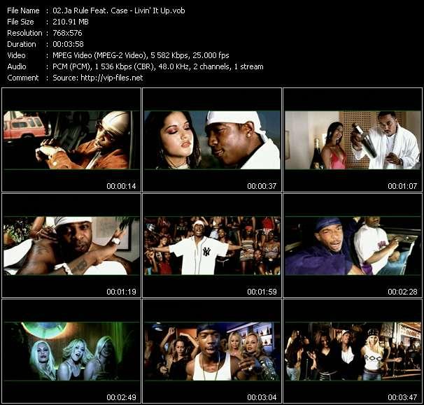 Screenshot of Music Video Ja Rule Feat. Case - Livin' It Up