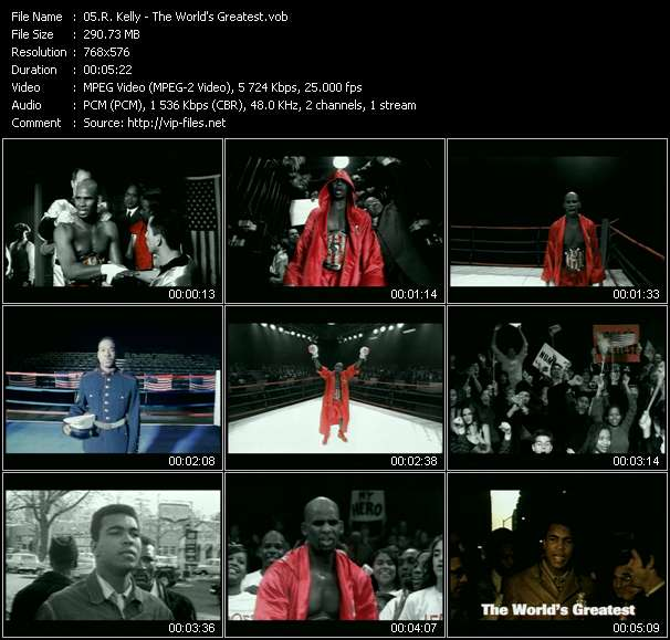 Screenshot of Music Video R. Kelly - The World's Greatest