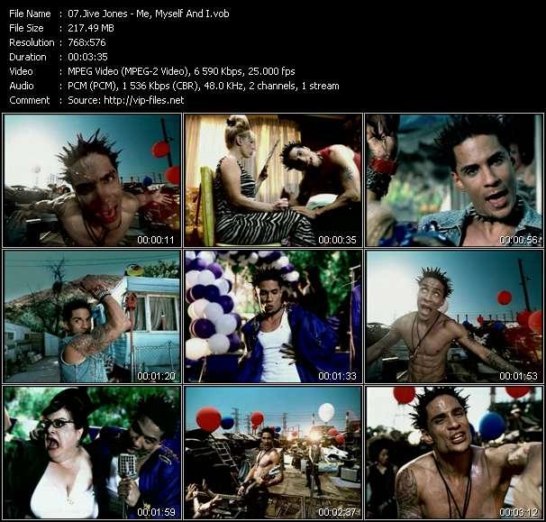 Screenshot of Music Video Jive Jones - Me, Myself And I