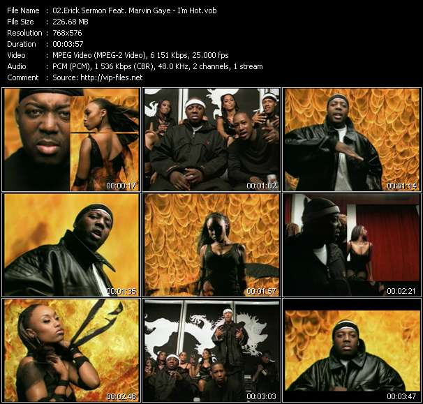 Screenshot of Music Video Erick Sermon Feat. Marvin Gaye - I'm Hot