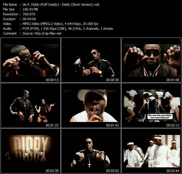 Screenshot of Music Video P. Diddy (Puff Daddy) - Diddy (Short Version)