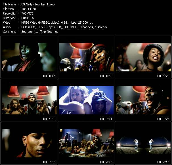 Screenshot of Music Video Nelly - Number 1