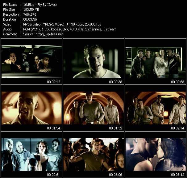 Screenshot of Music Video Blue - Fly By II