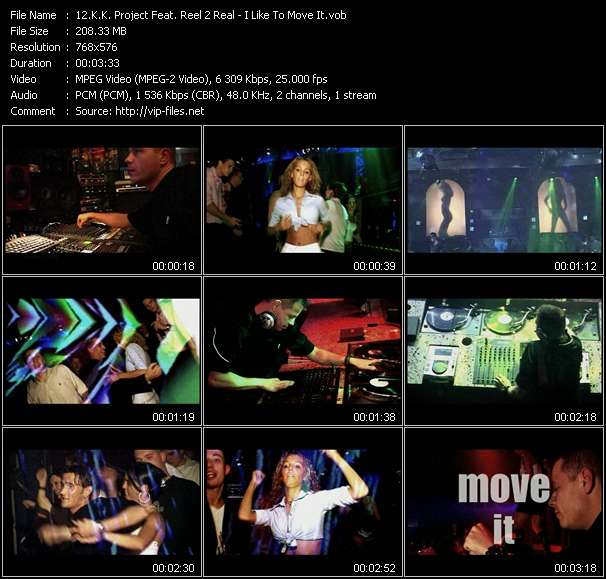 Screenshot of Music Video K.K. Project Feat. Reel 2 Real - I Like To Move It