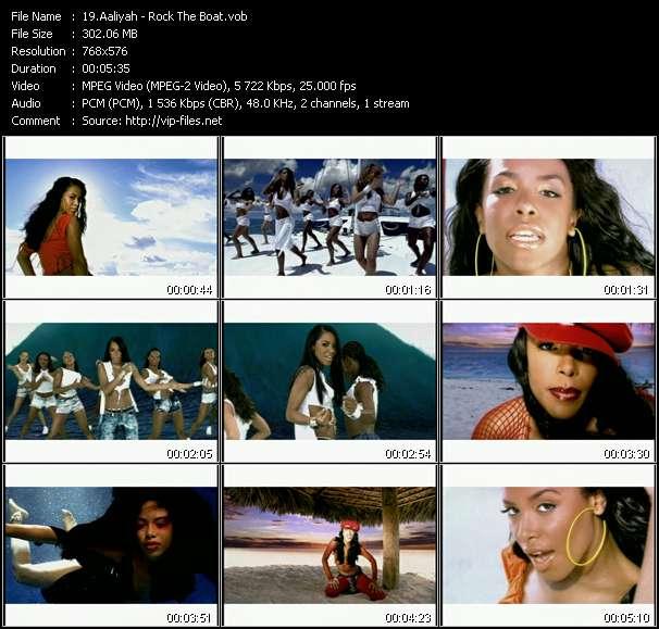 Screenshot of Music Video Aaliyah - Rock The Boat