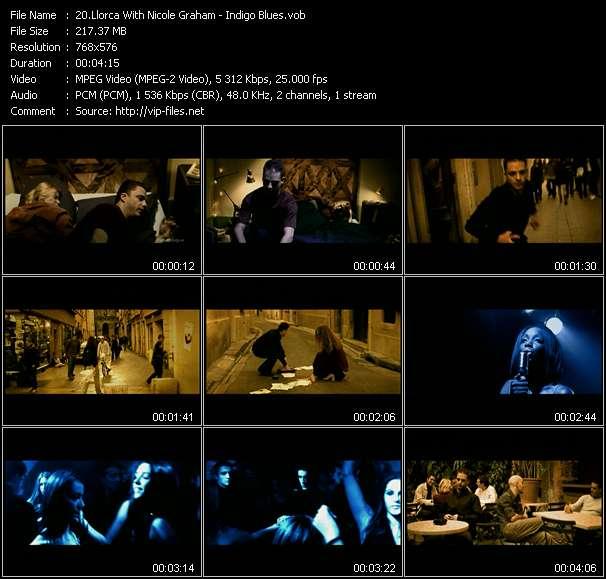 Screenshot of Music Video Llorca With Nicole Graham - Indigo Blues