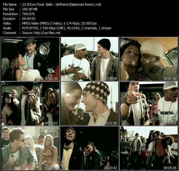 Screenshot of Music Video N'Sync Feat. Nelly - Girlfriend (Neptunes Remix)
