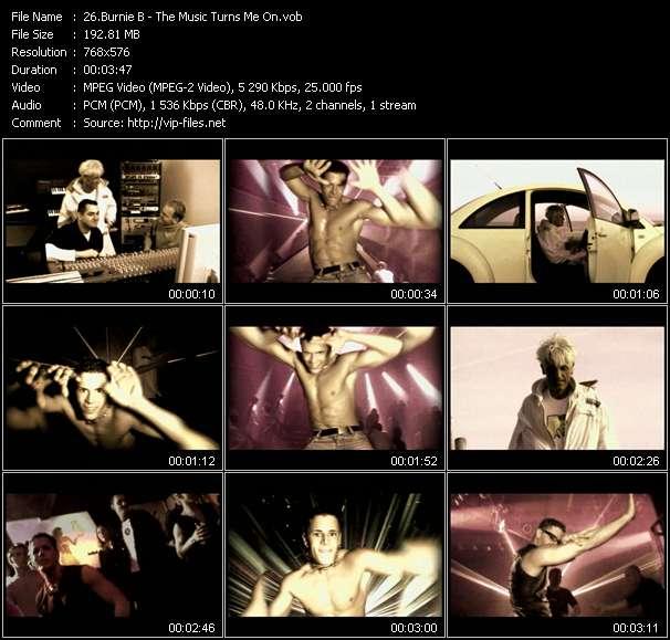 Screenshot of Music Video Burnie B - The Music Turns Me On