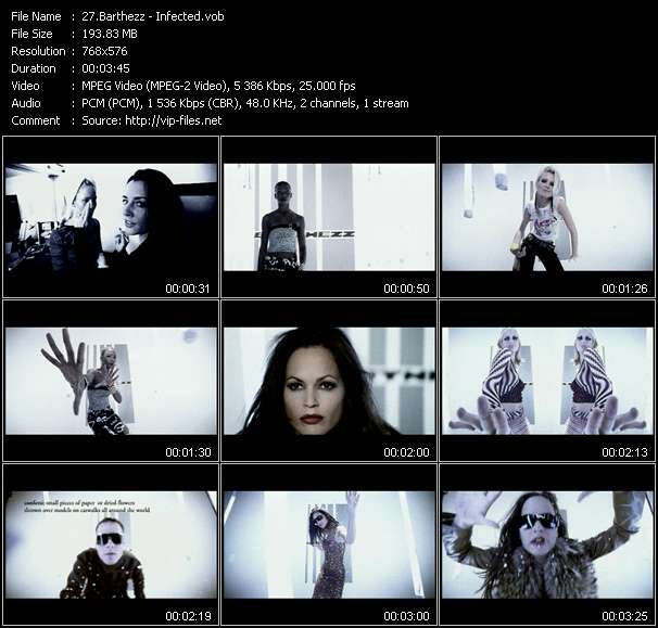 Screenshot of Music Video Barthezz - Infected