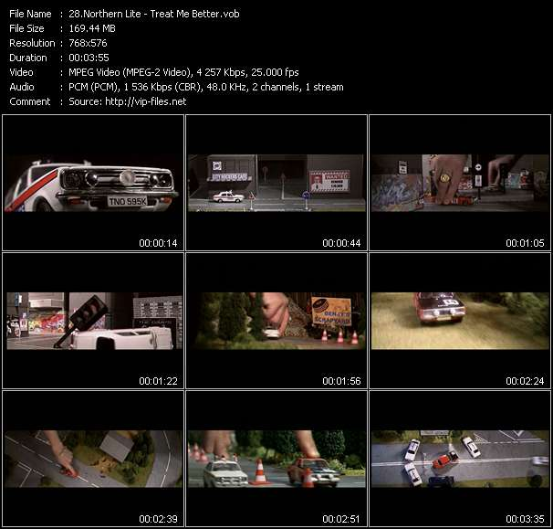 Screenshot of Music Video Northern Lite - Treat Me Better