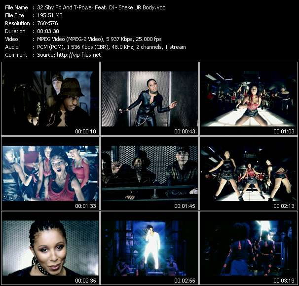 Screenshot of Music Video Shy FX And T-Power Feat. Di (Dianne Joseph) - Shake UR Body