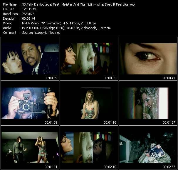 Screenshot of Music Video Felix Da Housecat Feat. Melistar And Miss Kittin - What Does It Feel Like?