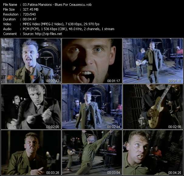 Screenshot of Music Video Fatima Mansions - Blues For Ceausescu