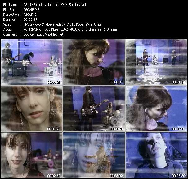 Screenshot of Music Video My Bloody Valentine - Only Shallow