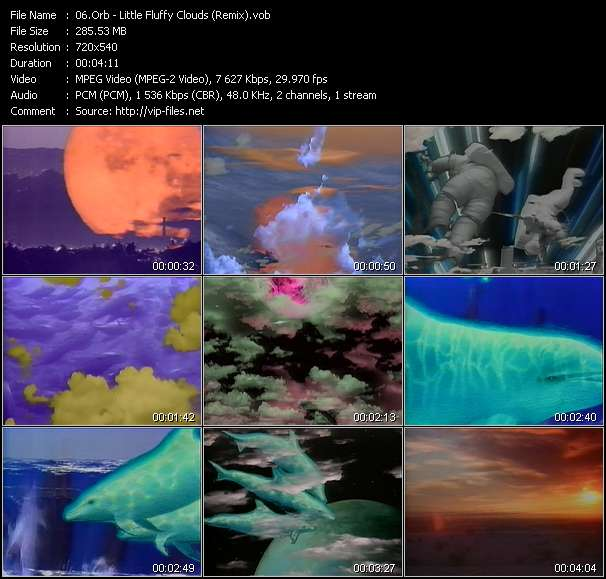 Screenshot of Music Video Orb - Little Fluffy Clouds (Remix)