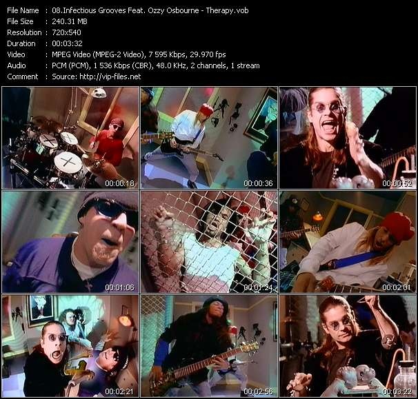 Screenshot of Music Video Infectious Grooves Feat. Ozzy Osbourne - Therapy