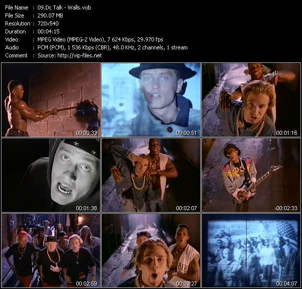 Screenshot of Music Video Dc Talk - Walls