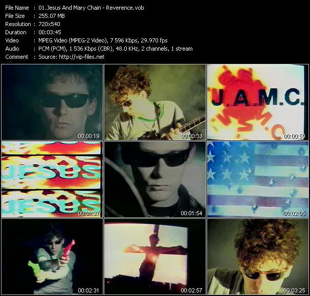 Jesus And Mary Chain clips musicaux vob
